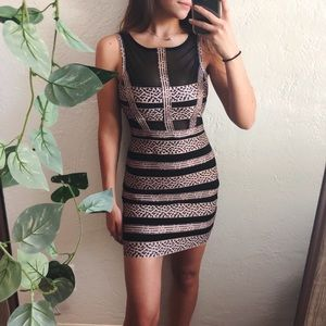 nasty gal body con mesh dress